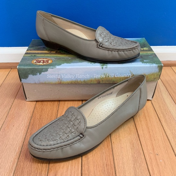 SAS Shoes - SAS Constance Taupe Comfort Loafers Extra Narrow